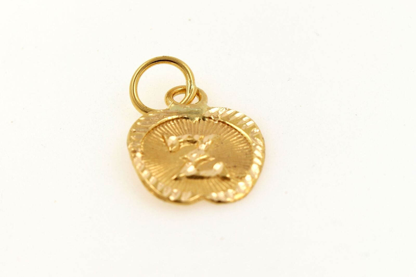 22k 22ct Solid gold Charm Letter Z Pendant Apple Design p1220 ns