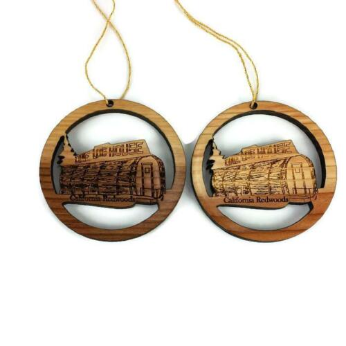 Details about  /One Log House Christmas Ornament Redwood Souvenir