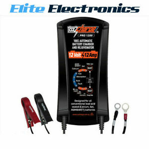 OZCHARGE PRO SERIES 12 VOLT 12A AMP 9-STAGE BATTERY CHARGER & MAINTAINER