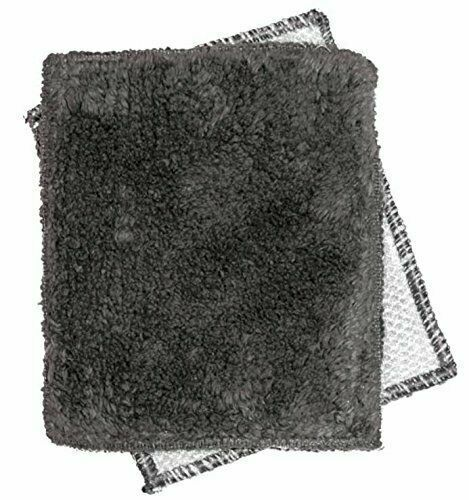 SHRUBBIE Cotton Chenille Dishcloth//Nylon Scrubber Mint Janey Lynn Shaggie