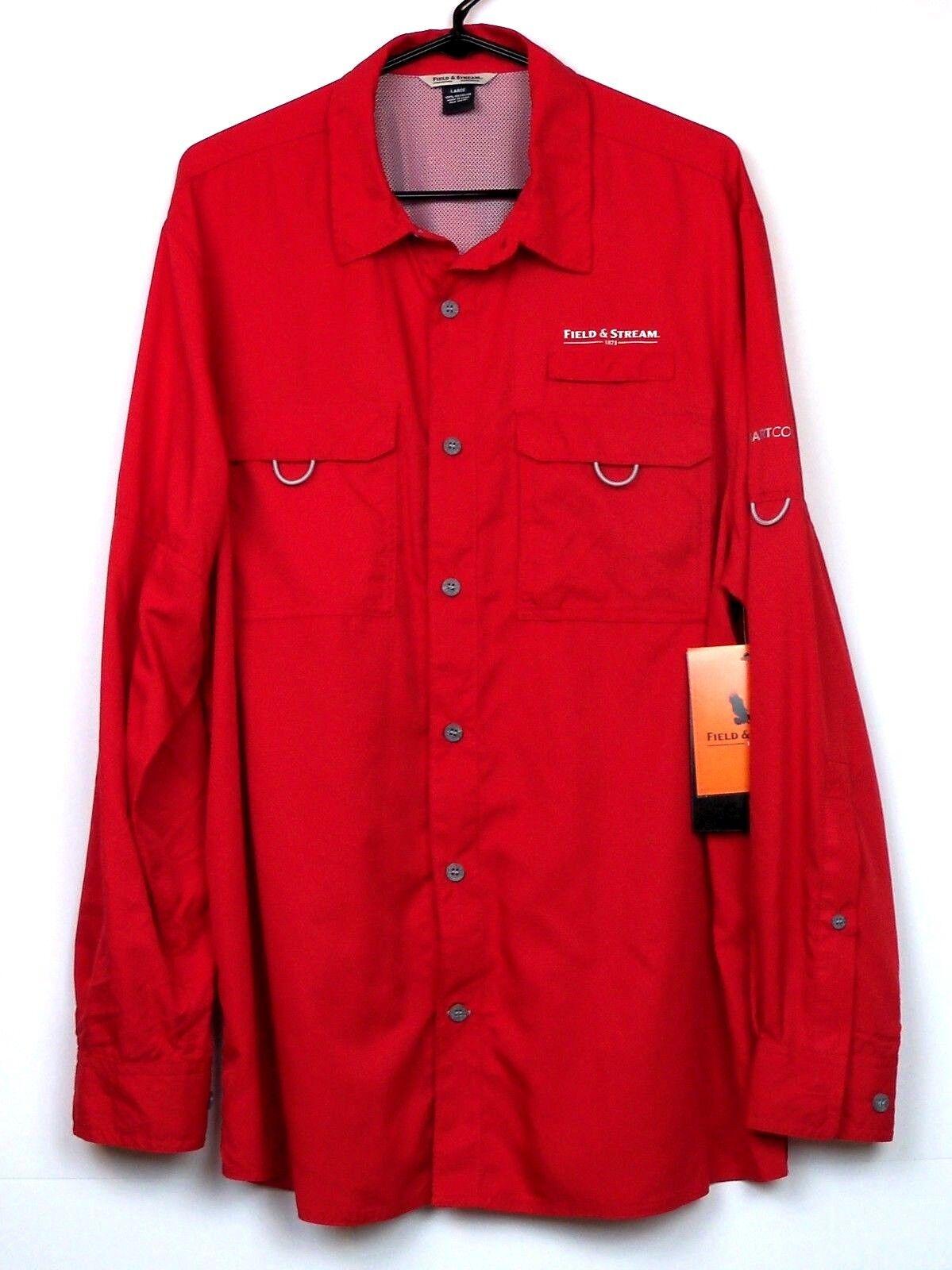 Field & Stream Uomo Latitude Castlite Smart Cool L Shirt NWT Barbados Cherry L Cool 0a7a9a