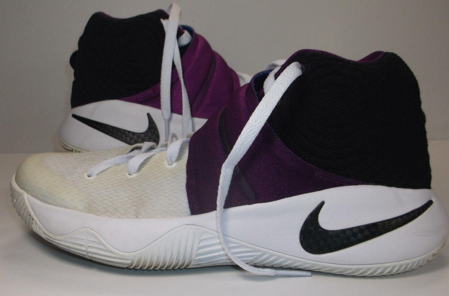 "Nike Kyrie 2 ""Kyrache"" Huarache White, Black, Black, Black, Bold Berry & bluee EUC Size 7.5 f74160"