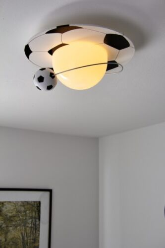 Fußball Lampe von Philips Kinder rund Spielzimmer Beleuchtung Glas Deckenleuchte