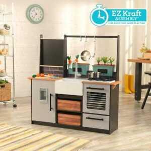 Details zu Kidkraft Bauernhof zu Tisch Spiel Küche mit Ez kraft Montage  Kinder Holz Küche