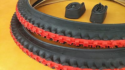 2 DURO 26X1.95 BICYCLE  TIRE+TUBE COMBO BLACK TWO