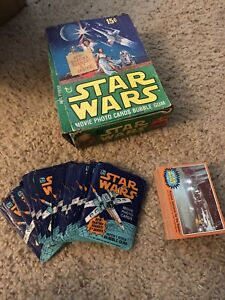 1977-Topps-Star-Wars-Series-5-orange-Complete-Card-Set-EX-NM-RARE-BOX-wrappers