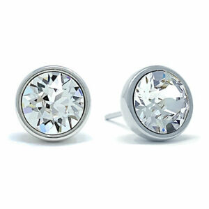 Stud-Earrings-with-White-Clear-Round-Crystals-from-Swarovski-Rhodium-Plated