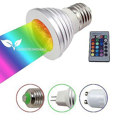 4W RGB GU10/MR16/E27 LED Light AMPOULE Spotlight Lampe 16 Couleur TELECOMMANDE