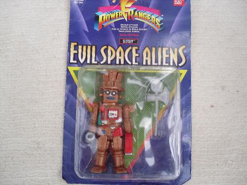 Power Rangers malvados Alien Personaje Figura Slotsky Nueva máquina tragaperras oro Rush