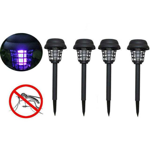 Solar Powered Outdoor Mosquito Fly Bug Insect Zapper Killer Trap Lamp Light MK6p