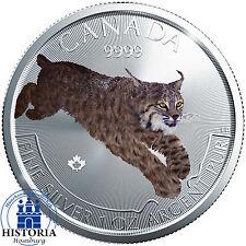 Kanada 5 Dollar Silbermünze 2017 bfr Predator Serie Luchs 1 oz Silber in Farbe