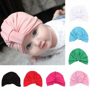 b9dc0f2d231 Cute Baby Girls Boys Toddler Kids Cotton Soft Turban Knot Hat Beanie ...