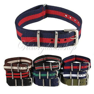 18mm Durable Men's Military Nylon Wrist Watch Band Strap 260mm Fit All Watches
