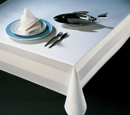 Tischdecke Damast Servietten Tischwäsche Atlaskante 100/% Baumwolle Tischdamast