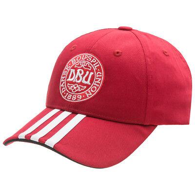 Dänemark adidas 3 Stripes Cap Fußball Fan Kappe W43357 Denmark neu