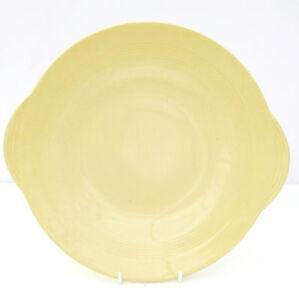 Vintage-Retro-1940s-1950s-Woods-Ware-Jasmine-Yellow-Cake-Plate