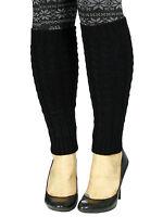 Women's Fashion Knit Crochet Winter Wool Leg Warmer Legging Socks 4 Colors