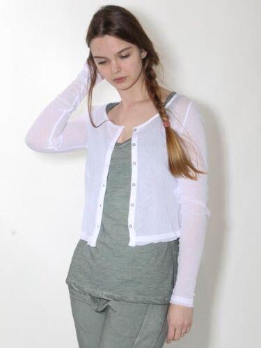 33/% BOLERO Veste D/'été Veste V SIMCLAN Taille 36 42 44 Blanc Coton Court