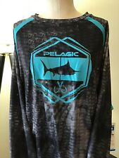 Pelagic Vaportek Performance Long Sleeve Fishing Shirt Dorado Blue 1015181003