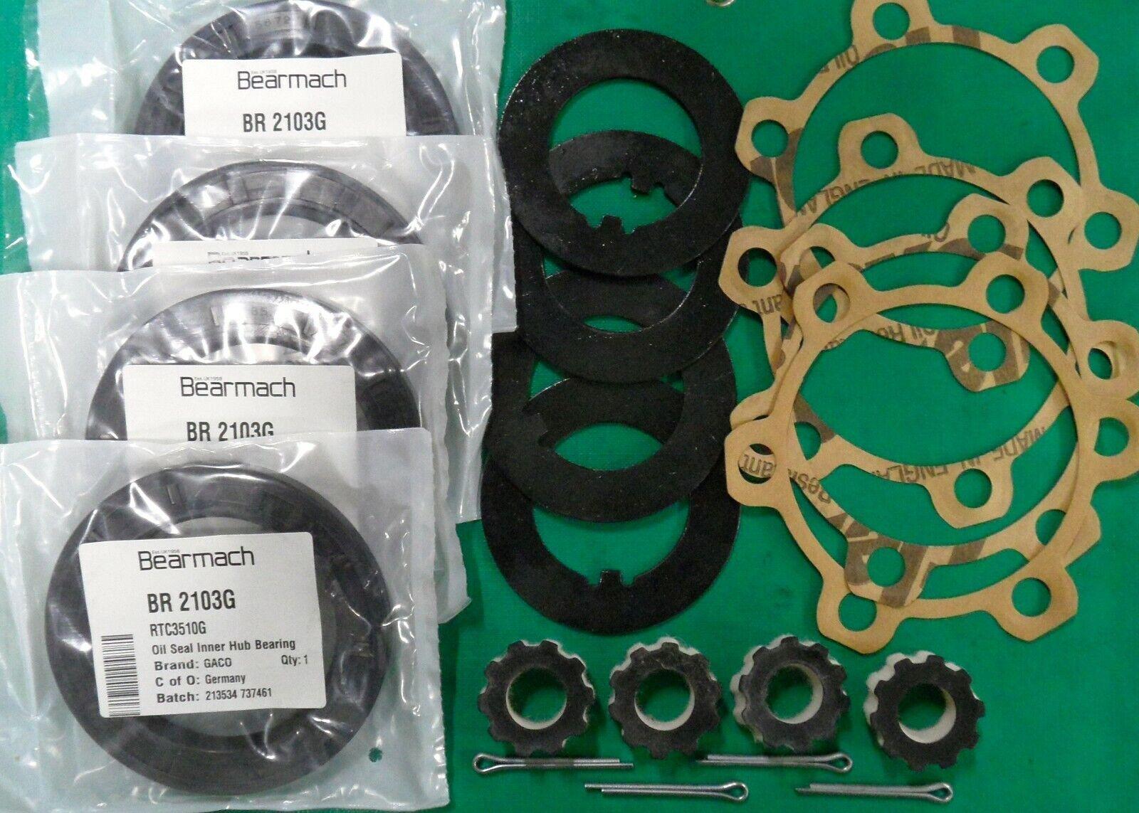 Land Rover Series 1 OEM GACO Front Hub Oil Seal Kit  239422 231505 217353 501412