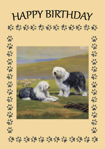 NEWFOUNDLAND TWO DOGS DOG GREETINGS NOTE CARD