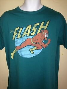 VINTAGE-THE-FLASH-2006-LARGE-T-SHIRT-DC-COMICS-JUNK-FOOD-OUT-OF-PRINT