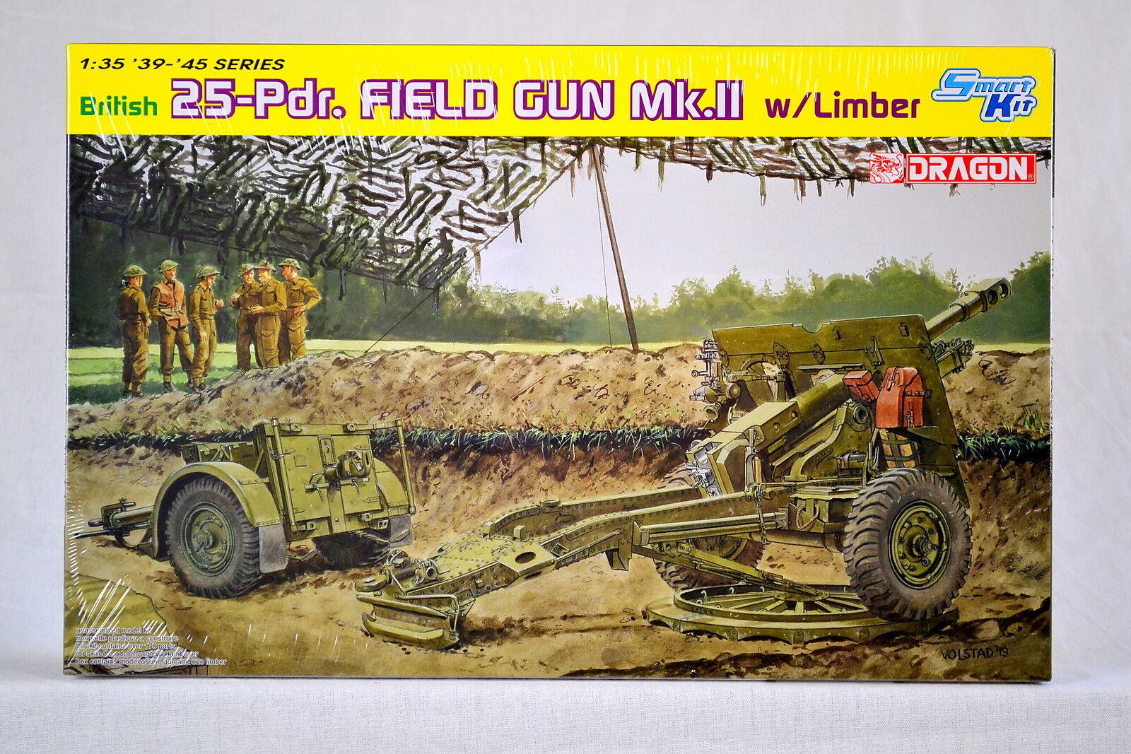 Dragon 6774 1 35 British 25pdr Field Gun Mk.II w Limber - Smart Kit