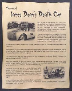 Details about The Curse of James Dean's Death Car Poster, Halloween Decor,  8-1/2 x 11