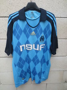 Détails sur Maillot OLYMPIQUE de MARSEILLE Adidas 2009 OM away shirt maglia jersey trikot L