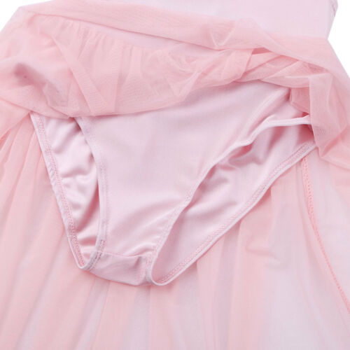 Girls Kids Lyrical Praise Robe Dress High-low Hem Dance Skirt Dancewear Costume