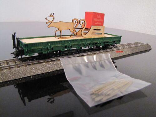 neu OVP Märklin 48414 Weihnachtswagen 2014 mit Rentierschlitten D frei Haus