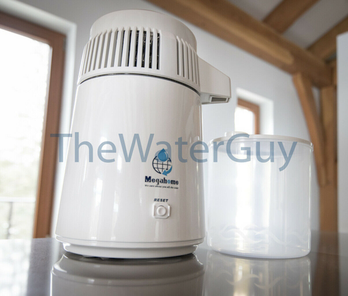 Megahome Water Distiller blanc with PC & Free Shipping 240V UK Plug