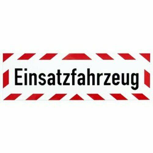"""Warnaufkleber /""""Einsatzfahrzeug/"""" Hinweis Schild Folie 35x10//42x10//45x15//65x20cm"""