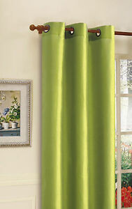 1pc Thermal Window Treatment Curtain Grommet Blackout 63 84 95 108 Lime Green Ebay
