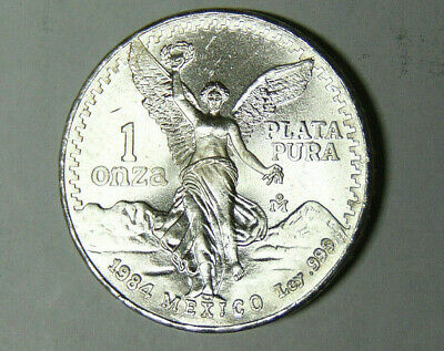 1984 Silver Mexican Libertad 1 Onza • BU .999 Fine Silver