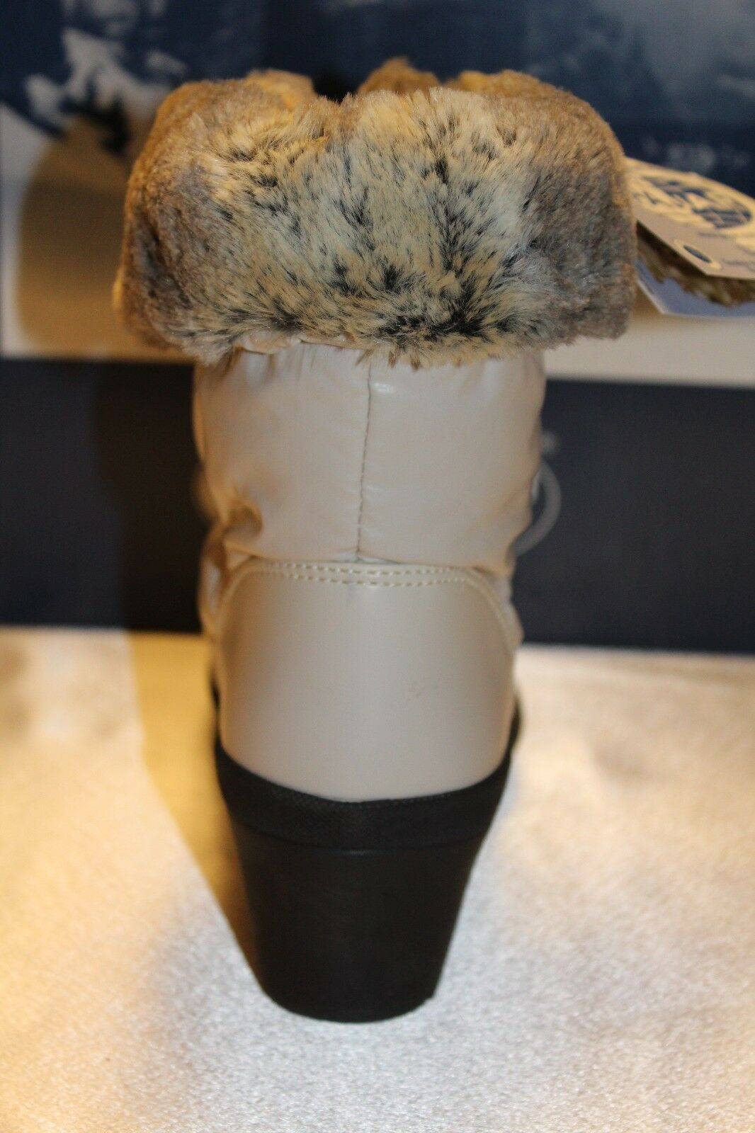 NEW  NIB  PAJAR Beige Beige Beige Nylon Faux Fur NADIA Low Waterproof Snow Stiefel Sz 8 9  175 9de760