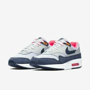 Details about NIKE AIR MAX 1 WOMENS WHITE MIDNIGHT NAVY PURE PLATINUM 319986 116 SZ 5