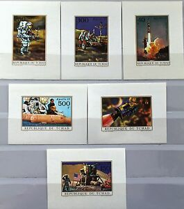 CHAD TSCHAD 1972 443-48 C95-00 DELUXE sheets Apollo 15 Space Raumfahrt MNH