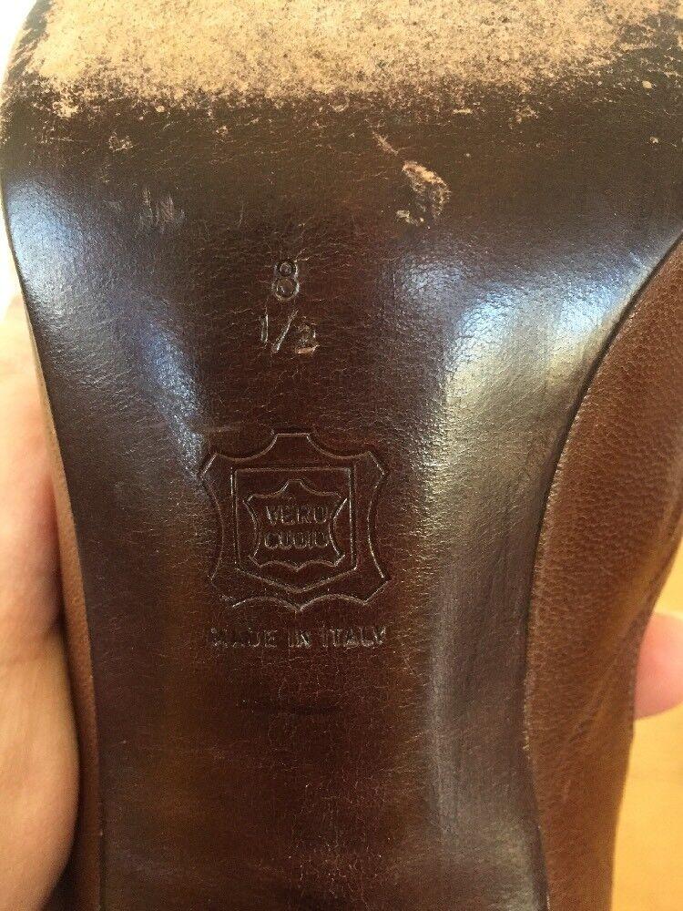 Vintage Lanvin Paris Peep Toe braun Italian Soft Soft Soft Leather High Heel Pumps 8.5 39 e71d9b
