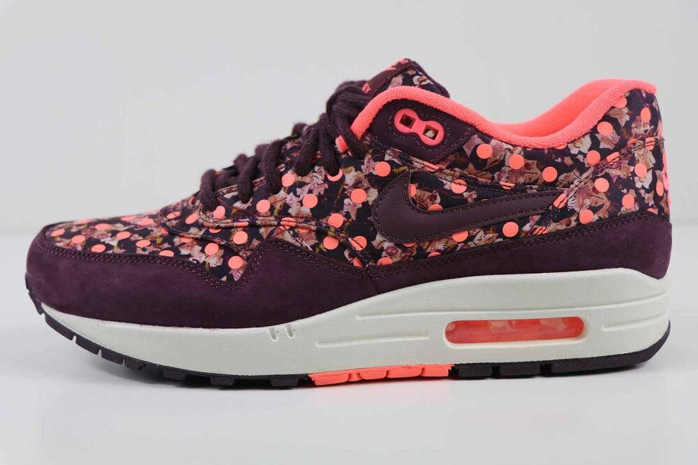 Nike Femme Air Max 1 Lib QS Liberty Burgundy Mango 540855 600 Taille 7.5 New