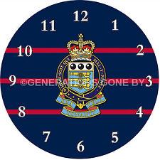ROYAL ARMY ORDNANCE CORPS GLASS WALL CLOCK