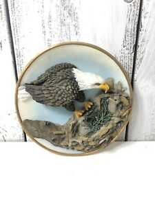 Sansco-Collectible-3D-Bald-Eagle-Eating-Worms-Decorations-Hanging-Wall-Plate