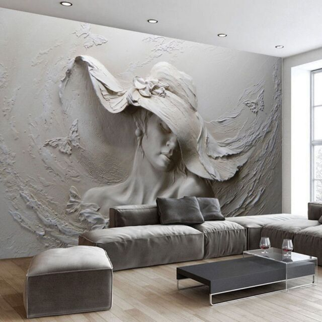 Custom Any Size 3d Mural Wallpaper Gray Beauty Modern Abstract Art Wall Painting