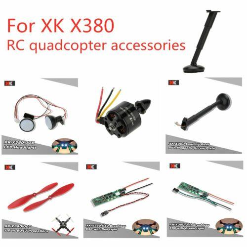 XK X380 Parts Landing Gear//LED Headlight//Red Propeller//Brushless ESC//CCW Motor