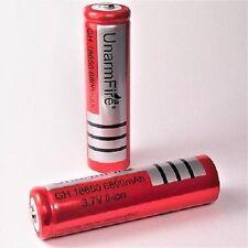 2x 6800mAh Akku UNARMFIRE  Li-ion Accu 3,7 V Batterie 18650 / 65x18 mm SWAT PCB