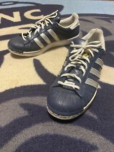 Details about Women Adidas Superstar Shell Toe Active Leisure Fashion Shoes Blue White 8.5