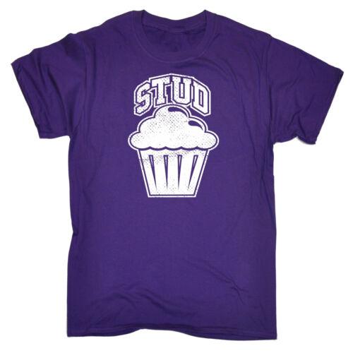 Stud Muffin MENS T-SHIRT tee birthday funny bodybuilder gym joke vain gift