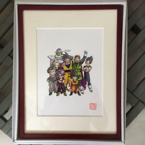 Dragon-Ball-Akira-Toriyama-Framed-Duplicated-Print-Art-Anime-Rare-F-S-from-Japan