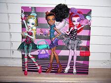 Monster High 3 Dance Class Dolls ROBECCA -- OPERETTA  -- LAGOONA Complete LOOSE
