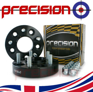 1 Pair of 30mm Black Bolt-On Hubcentric Wheel Spacers for BMW 5 Series